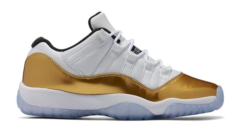 2b62252c526 Air Jordan 11 Retro Low White/Metallic Gold Coin-Black (Closing Ceremony)