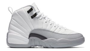 Air Jordan 12 Retro GS White/Black-Wolf Grey (Barons)