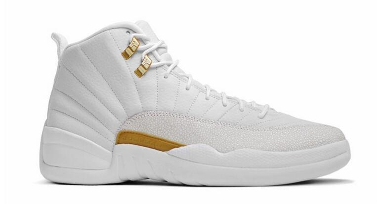 Air Jordan 12 Retro x OVO White/Metallic Gold-White
