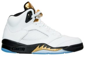 Air Jordan 5 Retro White/Black-Metallic Gold Coin (Gold Medal)