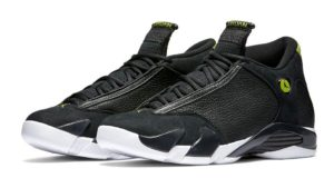 Air Jordan 14 Retro Black/Black-White-Vivid-Green (Indiglo 2016)