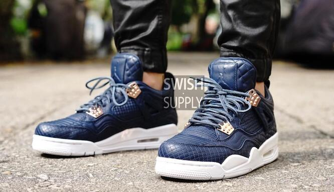 Air Jordan Retro 4 PRM Obsidian – Classic Blue - 23 Is Back c1ec2bb57