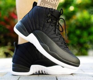 Air Jordan 12 Black Nylon