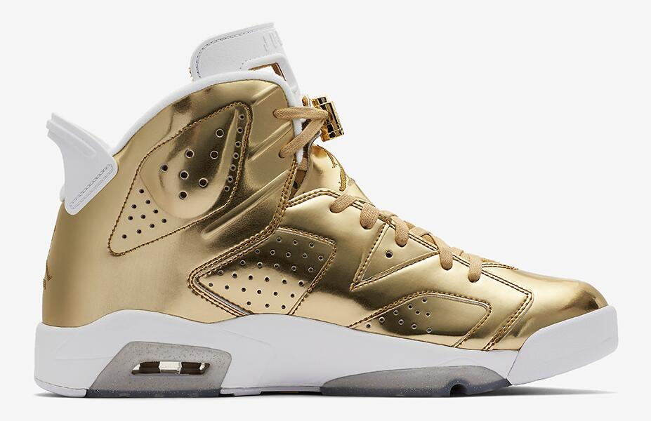 newest 18b02 bc63d Air Jordan 6 Pinnacle – A Metallic Gold Addition - 23 Is Back