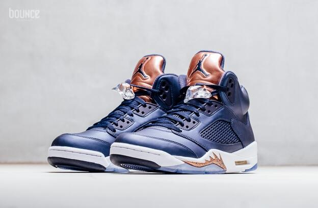 Air Jordan 5 Bronze Obsidian/White-Metallic Red Bronze-Bright Grape