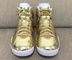 Air Jordan 6 Pinnacle Metallic Gold/White