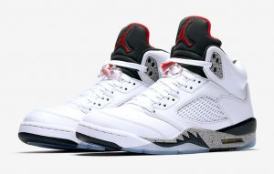 Air Jordan 5 White Cement