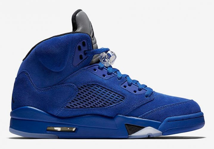 Air Jordan 5 Blue Suede