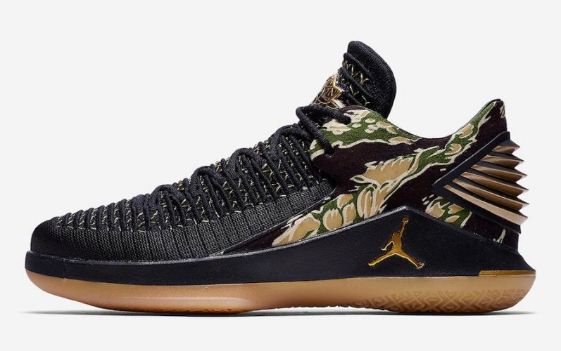 Air Jordan XXXII Low Tiger Camo